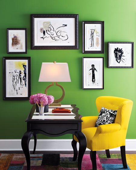 Bright-colourful-home-office-yellow-green-black